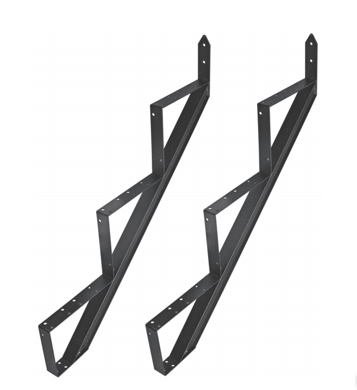 Treppenwange Treppenwangen Treppenrahmen Alu Schwarz 2 6 Trittstufen