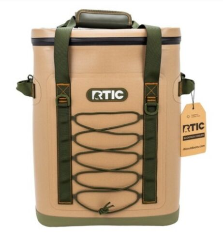 rtic back pack cooler tan new 2018