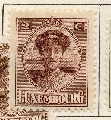 Luxembourg 1921 Early Issue Fine Mint Hinged 2c. 147008