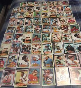 71 1980 Football Cards - Great Players
