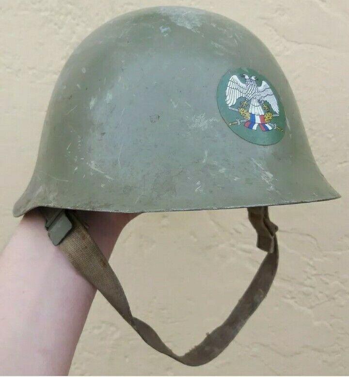 Yugoslavian/Serbian Army M59 Steel Combat Helmet