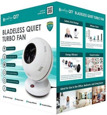 Oscillating Fan 12-Speed Remote Dust-Free Bladeless Breeze,