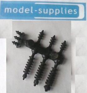 Dinky 908 Antar reproduction transformer black plastic pylons (set of 7)