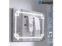 Illuminated LED bathroom mirror