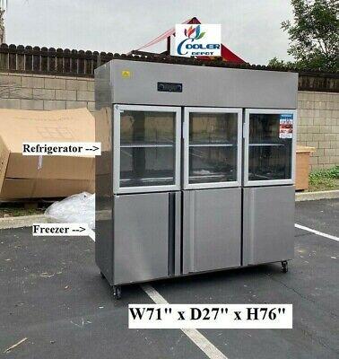 New 72 Commercial 6 Door Refrigerator Freezer Combo Reach In Upright Model Rg46
