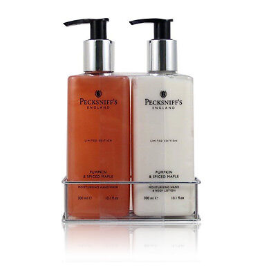PECKSNIFF'S PUMPKIN & SPICED MAPLE MOISTURIZING HAND WASH & BODY LOTION 10 oz Ea 10 Oz Moisturizing Hand Wash