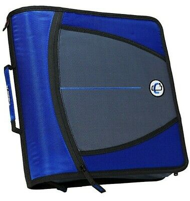 Case It The Mighty Zip Tab Binder 3 Capacity - 5 Color Expanding File W Strap