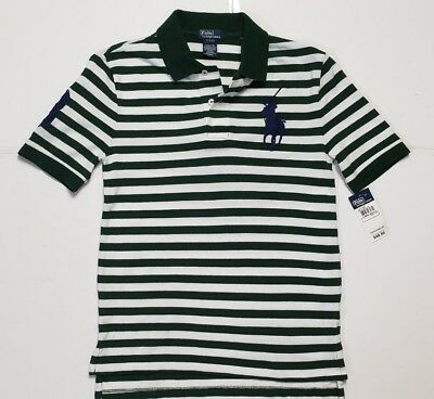 NWT POLO RALPH LAUREN BOYS MESH STRIPED BIG PONY M/L #69 - Teen Boys 69