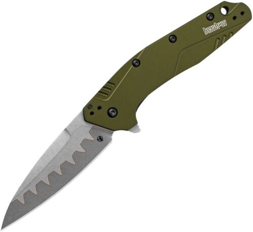 Kershaw Dividend N690 + CPM-D2 COMPOSITE BLADE Spring Assist knife USA 1812OLCB