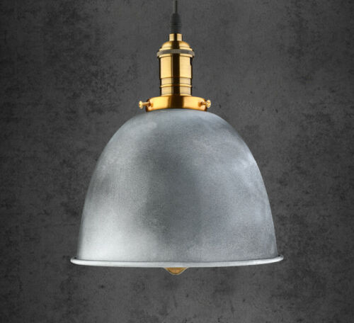 Industrial Ceiling Light Silver Dome Shade Hanging Pendant L