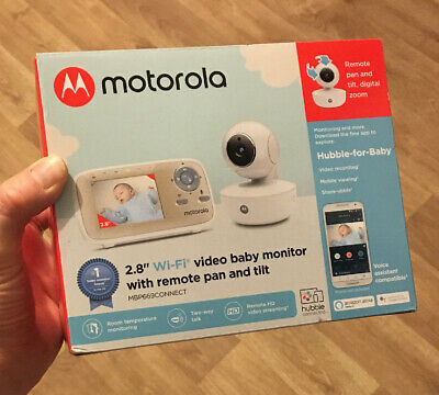 Motorola MBP669 Connect Wi-Fi Video Baby Monitor Remote Pan & Tilt Brand New