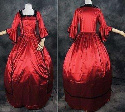 V-13 S/M/L/XL/XXL Rot Red Victorian Gothic Lolita Ball-Kostüm dress costume