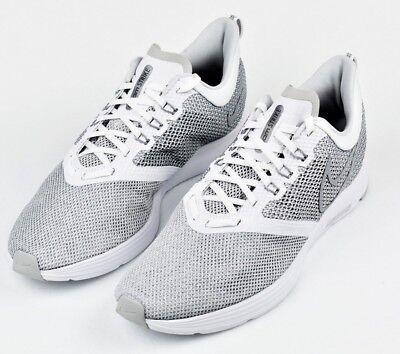 f18b021ea6f89 Mens Nike Zoom Strike Running Shoes Sneakers AJ0189 100 White Wolf Grey Size  12
