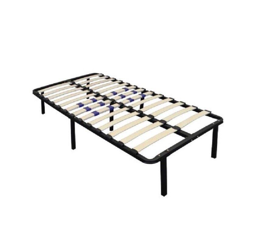 Platform Bed Frame w/ Adjustable Lumbar Support Heavy Duty E