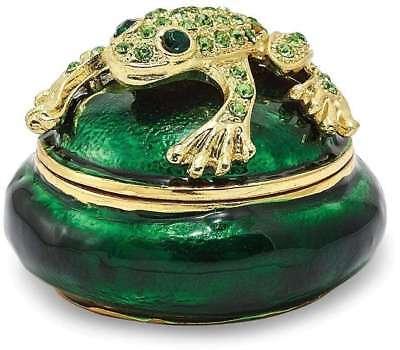 Bejeweled Frog - Bejeweled Frog on Trinket Box