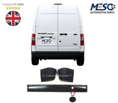 BRAND NEW OE FORD TRANSIT CONNECT REAR BUMPER WITH 2 END CAPS 2002 2013