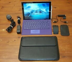 Microsoft Surface Pro 3 (i3, 4GB RAM, 64GB) laptop/tablet bundle with extras!