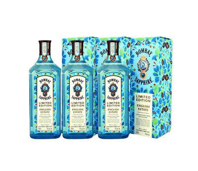3 BOTELLAS X Ginebra Bombay Sapphire English Estate - Edición Limitada -...