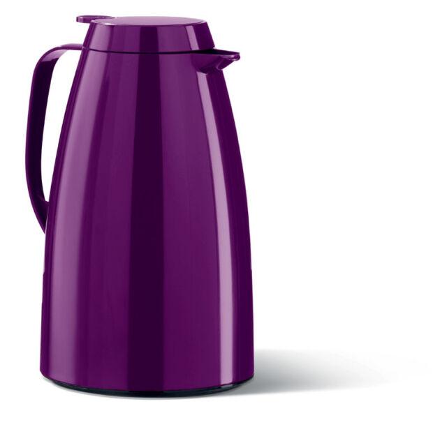 Emsa Thermoskanne Isokanne Kaffeekanne Isolierkanne Teekanne KV 1,0 L brombeer