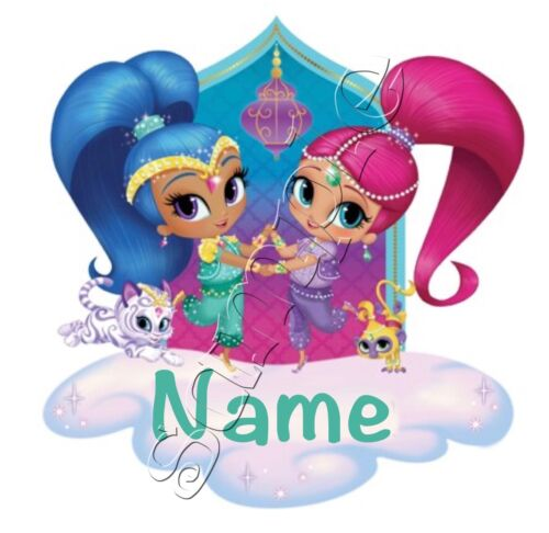 iron on transfer personalised any first name shimmer and shine cloud