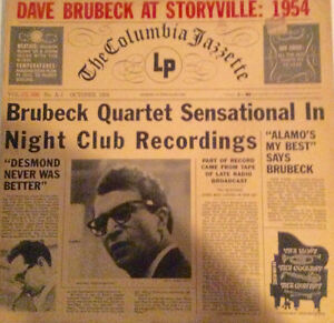 LP Record, Dave Brubeck at Storyville, 1954, rare jazz record