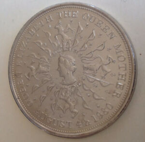 Coins – 1980 UK Commemorative Crown Queen Mother's 80th Birthday