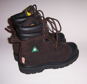 ROAD MATE Lite Men's Leather Steel Toe Work Boots ~ Size 7 EE