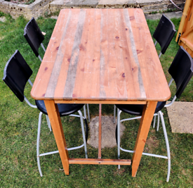 High table and four chairs - garden or indoors