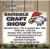 WE WILL BE AT THE EASTDALE CRAFT SHOW!