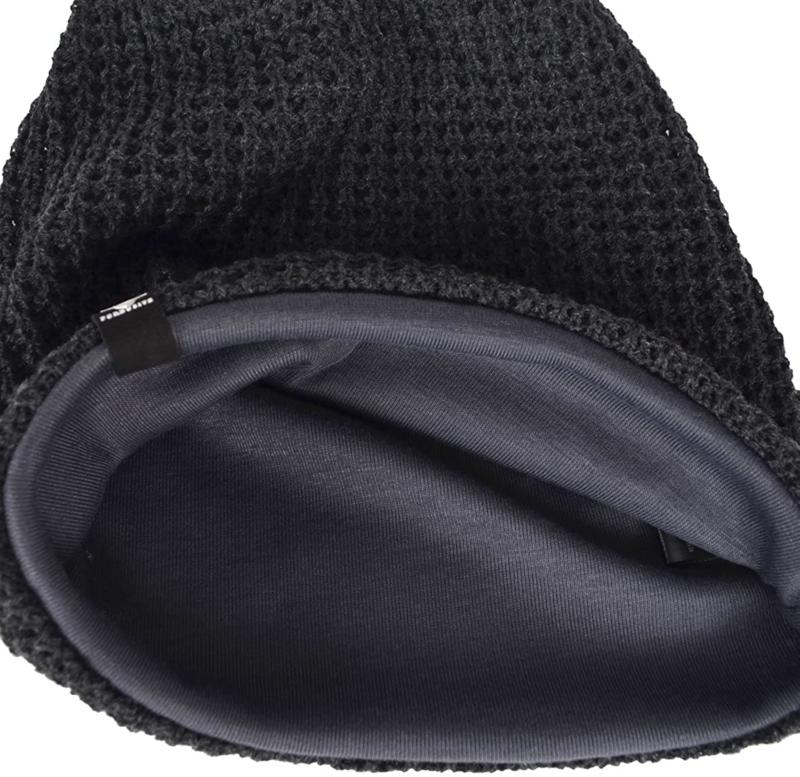 Hisshe Knit Beret Baggy Winter B08W