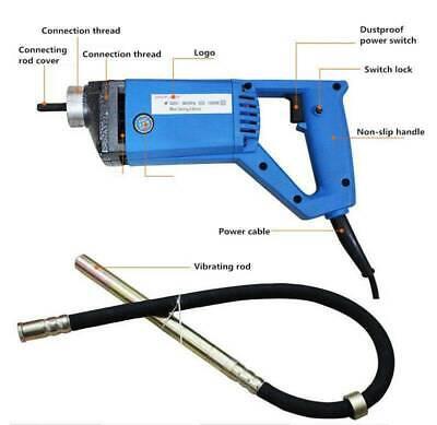 220v Electric Portable Concrete Vibrator Hand-held Concrete Mixer 1300w 13000rpm
