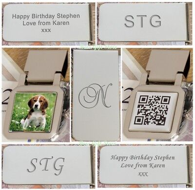 PERSONALISED Engraved MONEY CLIPS Accessories for MEN GENTS Wedding Birthday  - Birthday Accessories For Adults