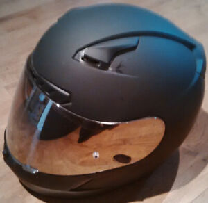 HJC CL-17 full face helmet, matte black, small, extra shields