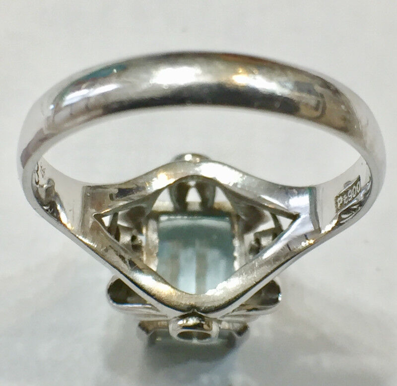 jewellery listing item jewelry ring and on calgary diamond v aquamarine polished platinum watch high