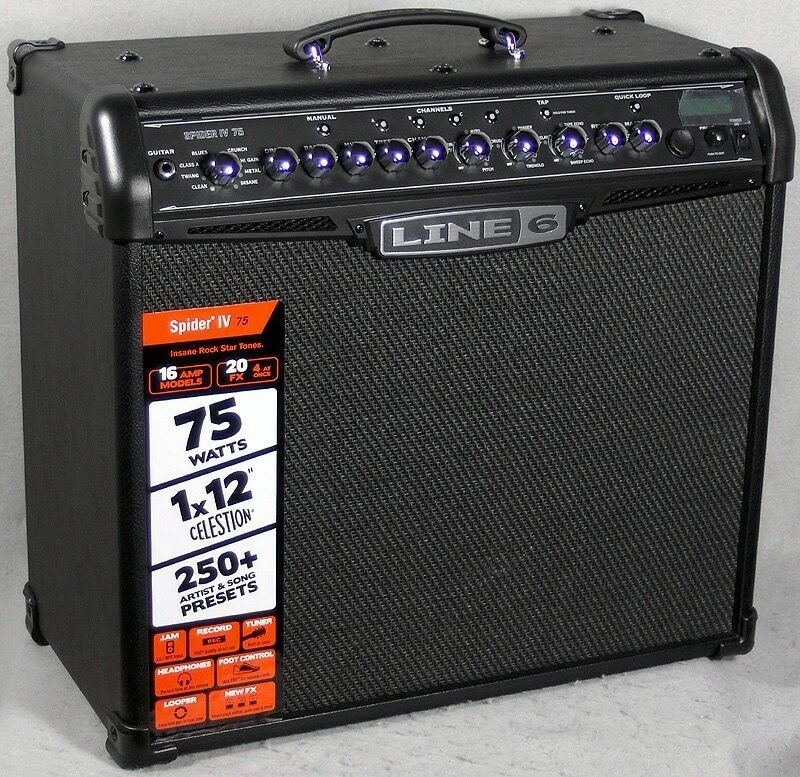 Line 6 Spider IV 75 75W 1x12 Guitar Combo Amp (Used)