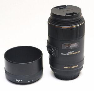 SIGMA OS 105MM F2.8 EX DG MACRO CANON MT + Sigma 62mm filter