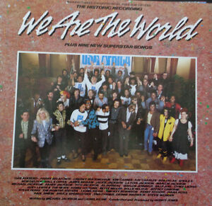 "Vinyl 12"" Single ""We Are The World"""