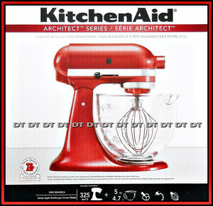 KITCHENAID ARCHITECT SERIES 5 QT RED NEW STAND MIXER $450 FIRM