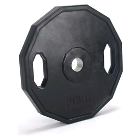 2x20kg Olympic Rubber Weight Plates - 2 inch