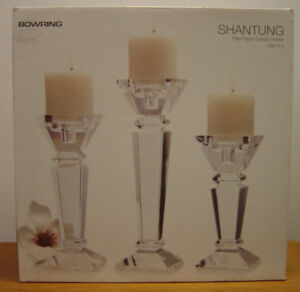 Glass Candle Holders(3)