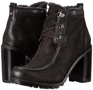 NEW Sam Edelman Women's Madge Leather Winter Boots Black sz 9.5M