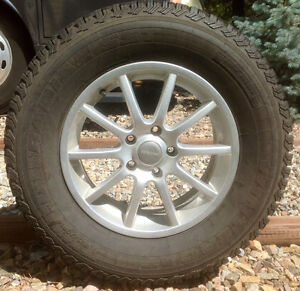 Four Winter Cat Radial Tires Mounted on RSSW Alloy Wheels