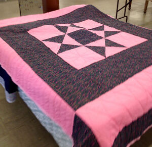 NEW HAND MADE QUILT FOR DOUBLE OR SINGLE.