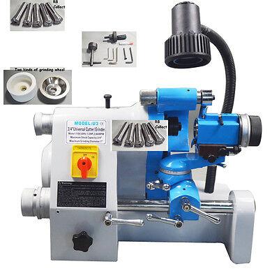220v U3 End Mill Lathe Bit Drill Grinder Sharpener R8 Collect Grinding Machine