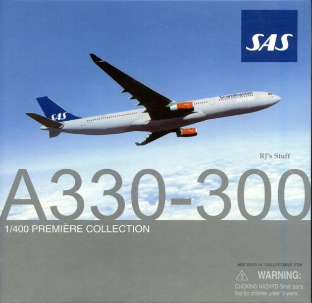 RARE SCANDINAVIAN AIRLINES Special Version Airbus A330-300 1:400 Scale Model #55651 from DragonWings