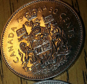 50 cent coins and 1 Dollar coins for trade. Windsor Region Ontario image 7