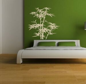 Black Bamboo Wall Decor Decal Removable Sticker vinyl