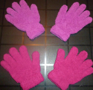 SEARS - 2 Pairs of Girls Fuzzy Gloves