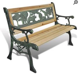 A new stylish childs garden bench .