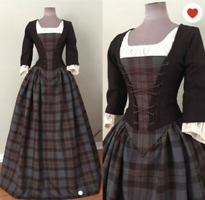 Claire Randall Costume Dress (Outlander)